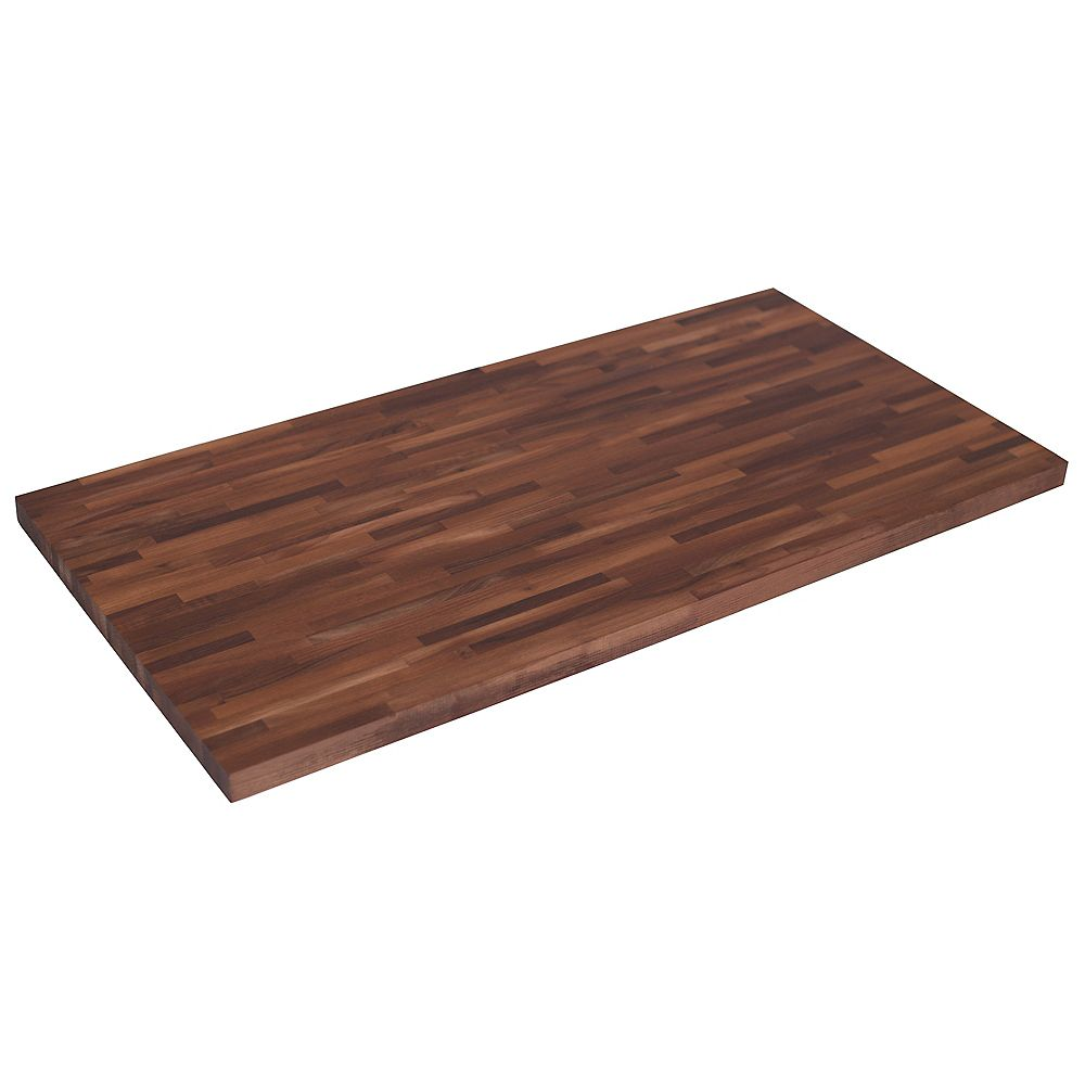 Hardwood Reflections 50 Inch X 25 Inch X 1 5 Inch Wood Butcher Block Countertop In Unfinis The Home Depot Canada