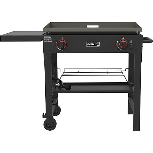 Plaque chauffante au barbecue au propane à 2 brûleurs