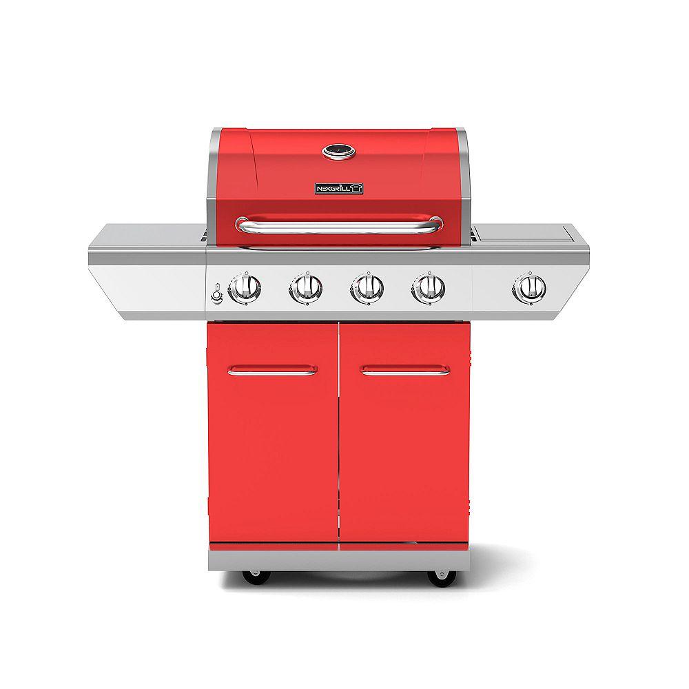 NexGrill Barbecue au propane à 4 brûleurs avec brûleur latéral, rouge
