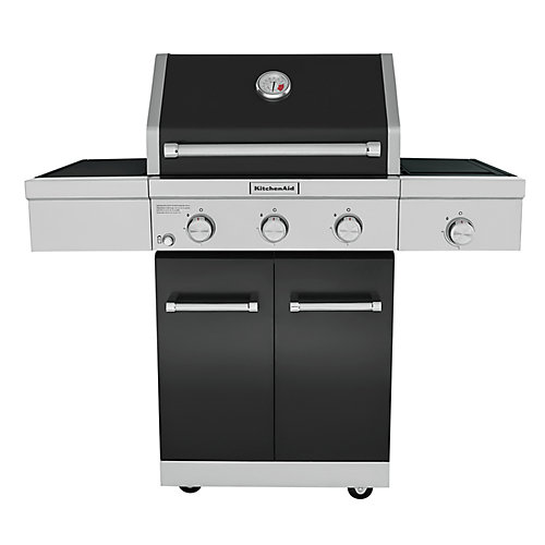 3-Burner Outdoor Propane BBQ with Ceramic Infrared Sear Burner in Black