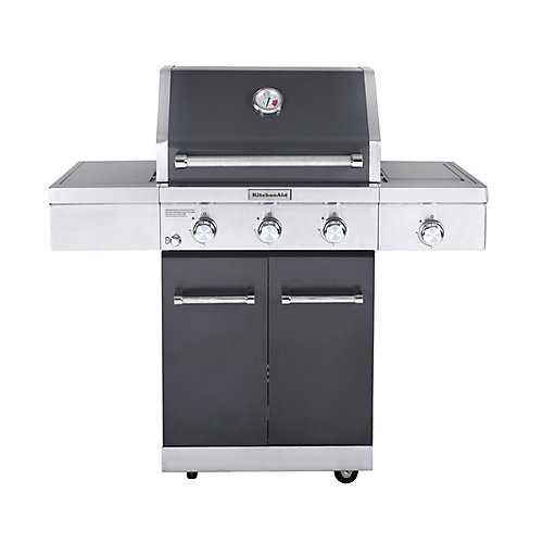 3-Burner Outdoor Propane BBQ with Ceramic Infrared Sear Burner in Slate