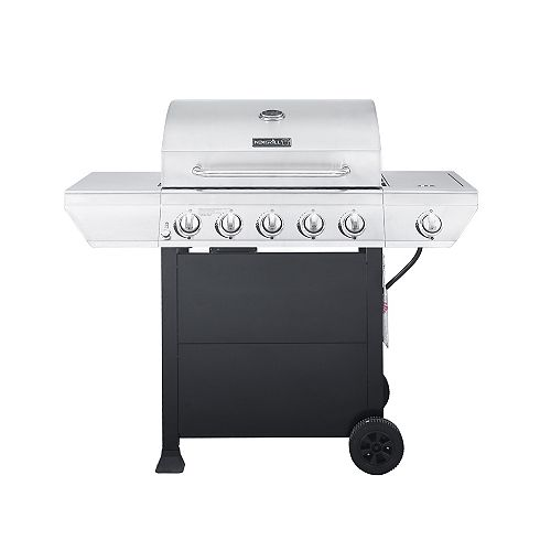 5-Burner Propane BBQ in Stainless Steel with Side Burner