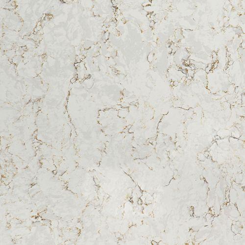 Échantillon comptoir de quartz Lusso de 4-po x 4-po
