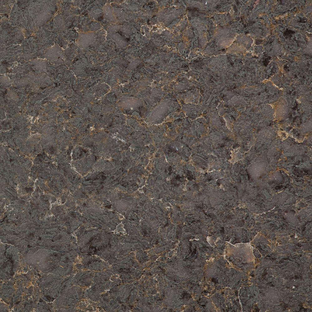 Silestone Échantillon comptoir de quartz Copper Mist de 4-po x 4-po