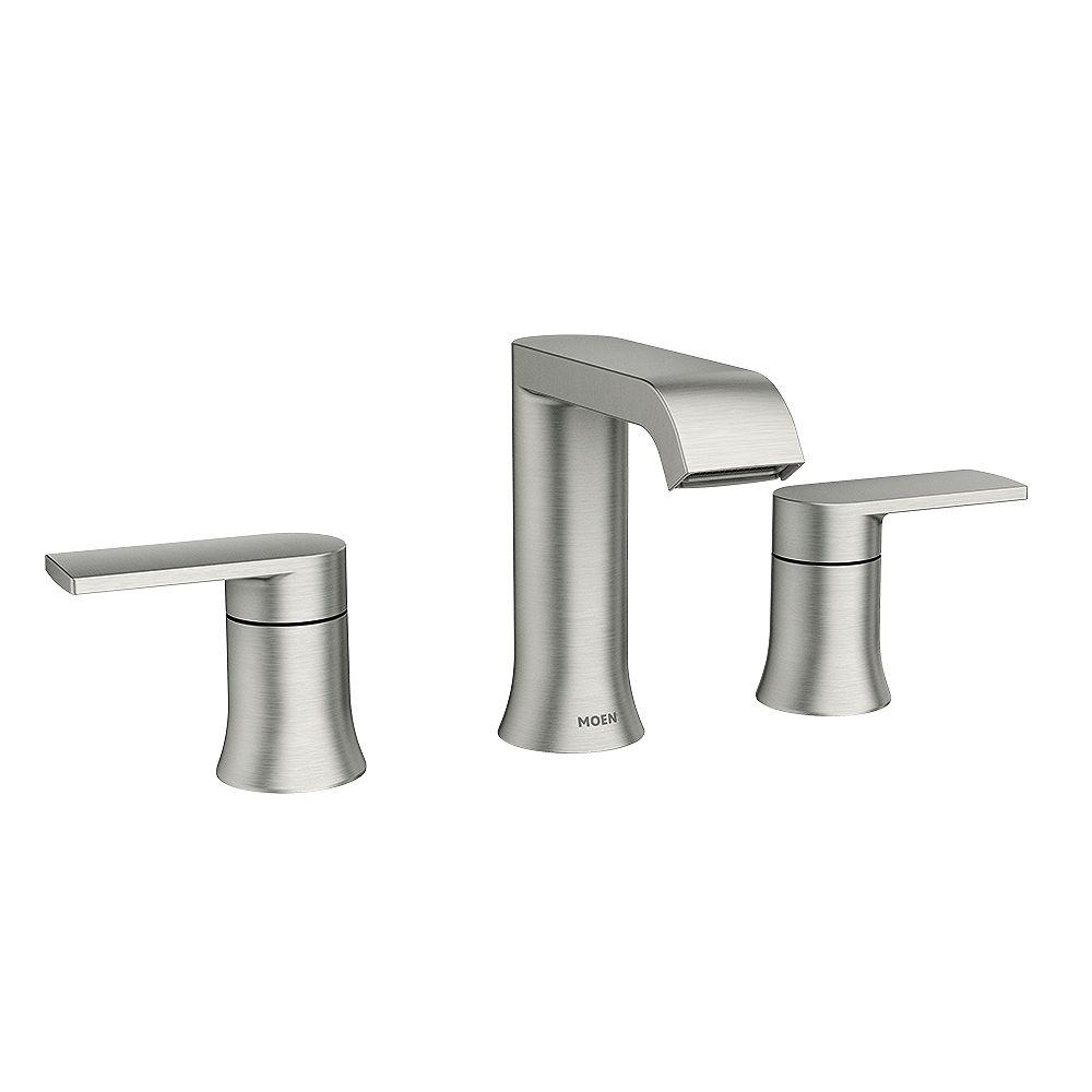 Moen Genta 8 Inch Widespread 2 Handle, Moen Bathroom Faucets Widespread Brushed Nickel