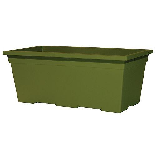 HDG Leonardo Windowbox plastic Green Tea 15 inch