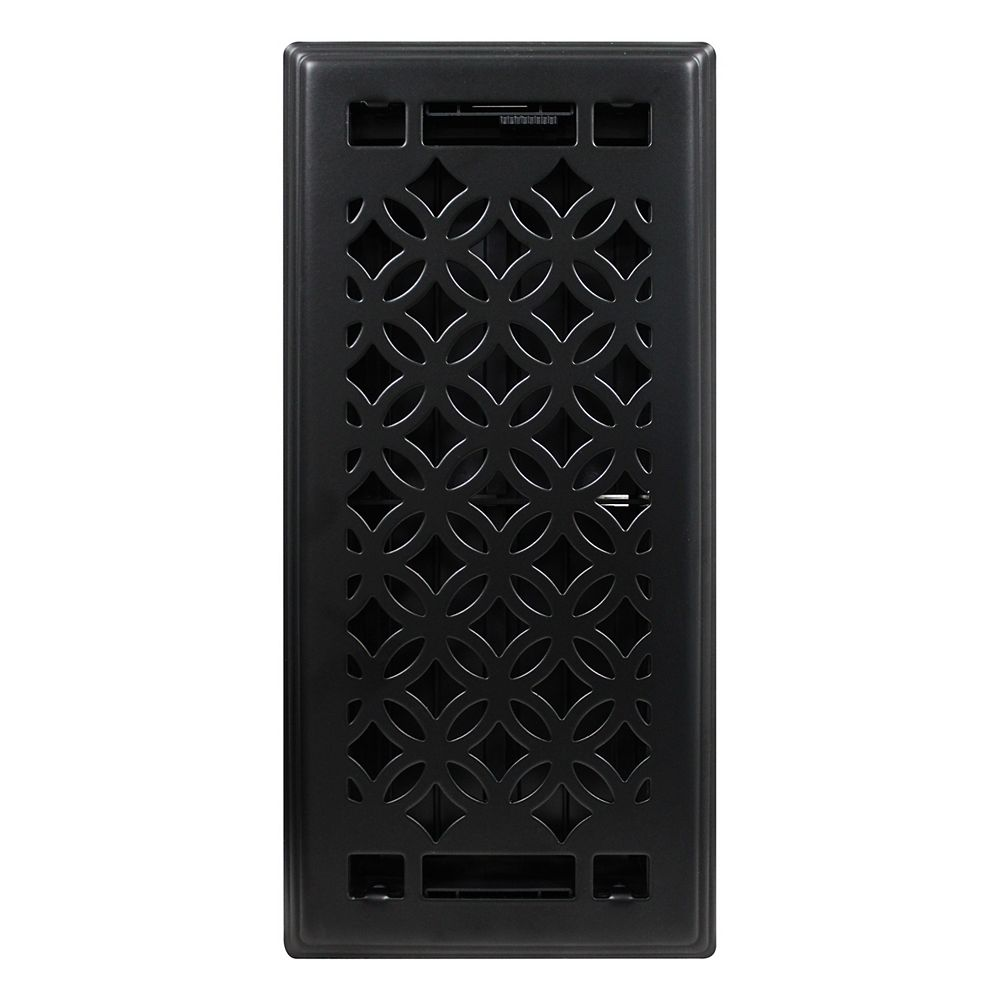 Hampton Bay 4 inch x10 inch Serenity Black Matte Floor Register (3-Pack)