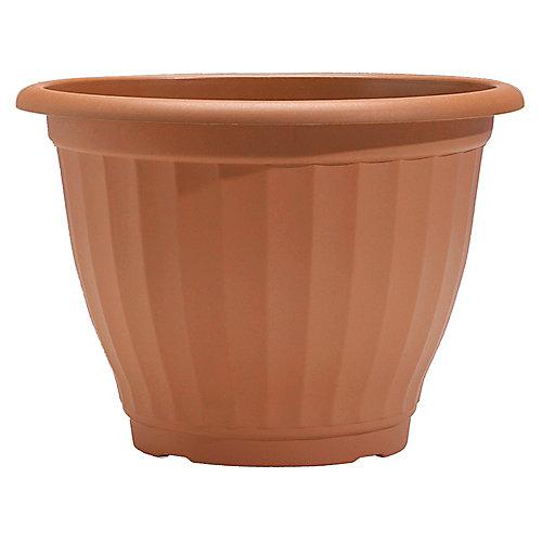 Castella 21-inch Round Plastic Planter in Mesquite