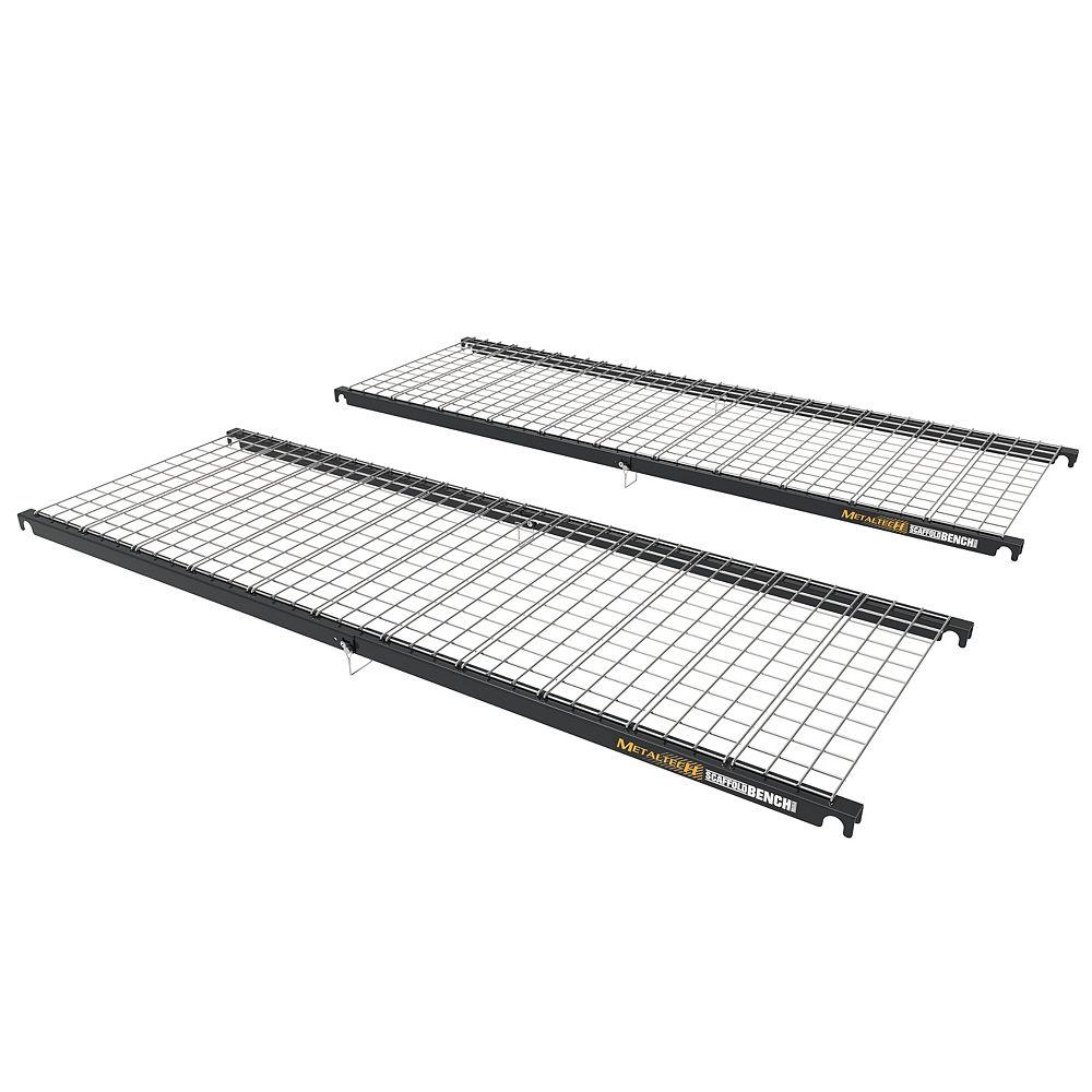 Metaltech ScaffoldBench, Kit de 2, étagère de rangement pour échafaudage Baker
