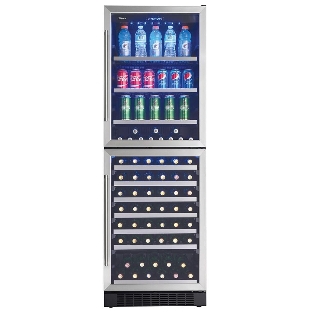 Silhouette Refroidisseur à boissons et à vin à deux zones, 14 pi3