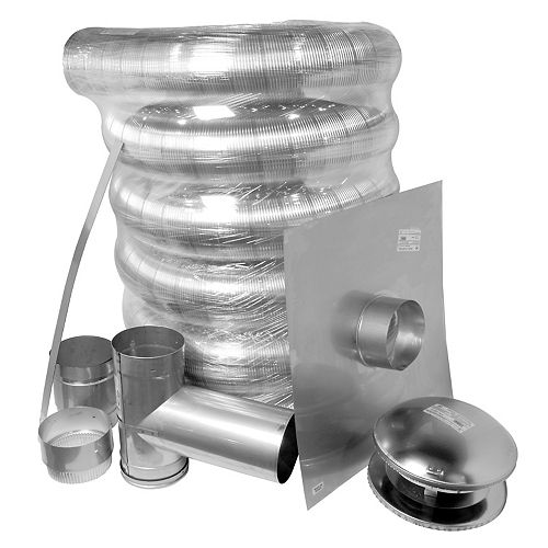 6 inch x 35 ft. Stainless Steel Complete Liner Kit