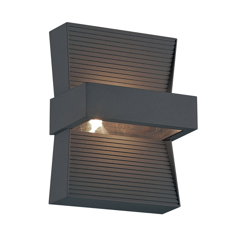 Eurofase Mill LED Outdoor Wall Mount, Graphite Grey Finish