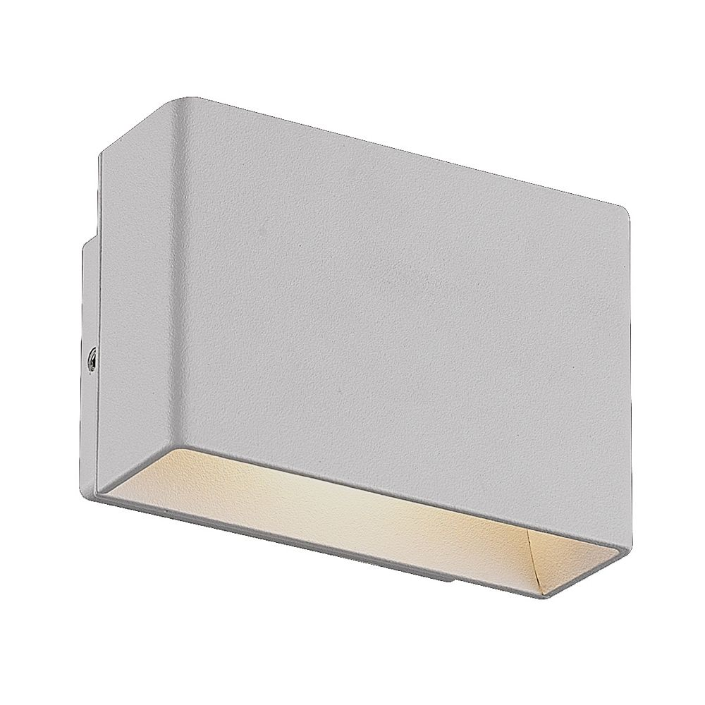 Eurofase Vello LED Outdoor Wall Mount, Marine Grey Finish