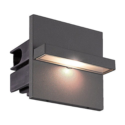 Perma LED Outdoor In Wall, Graphite Grey Finish