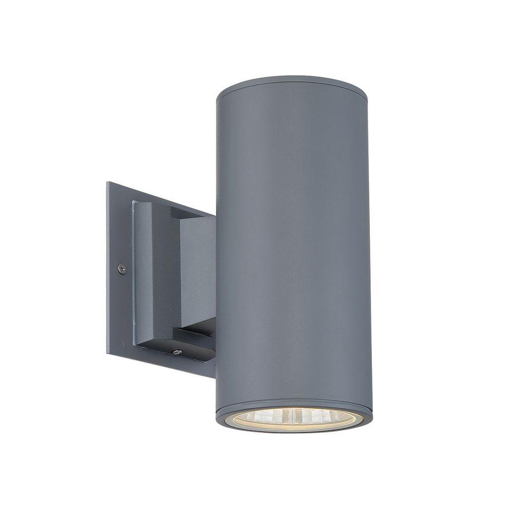 Eurofase Applique d'extérieur à éclairage orienté vers le bas, grise