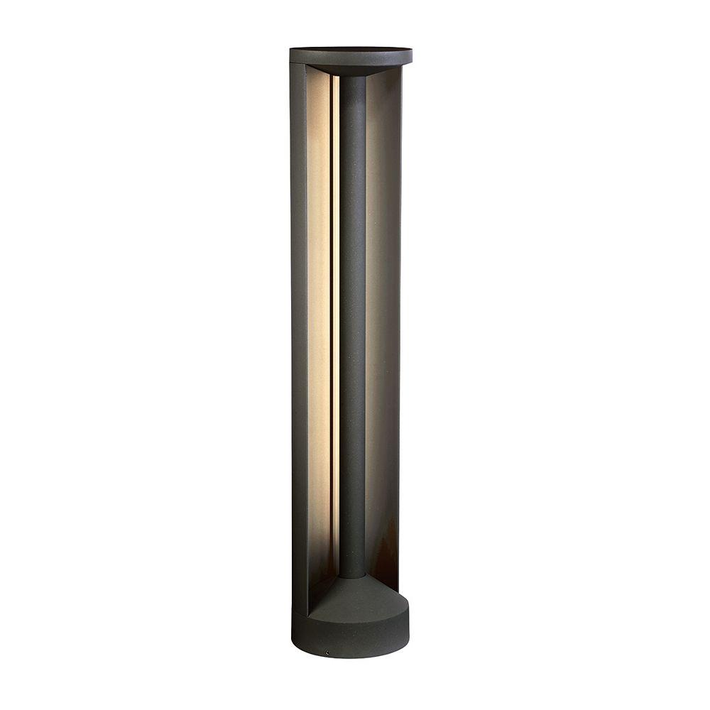 Eurofase Luminaire Bollard à DEL pour l'extérieur, gris graphite, 15 watts