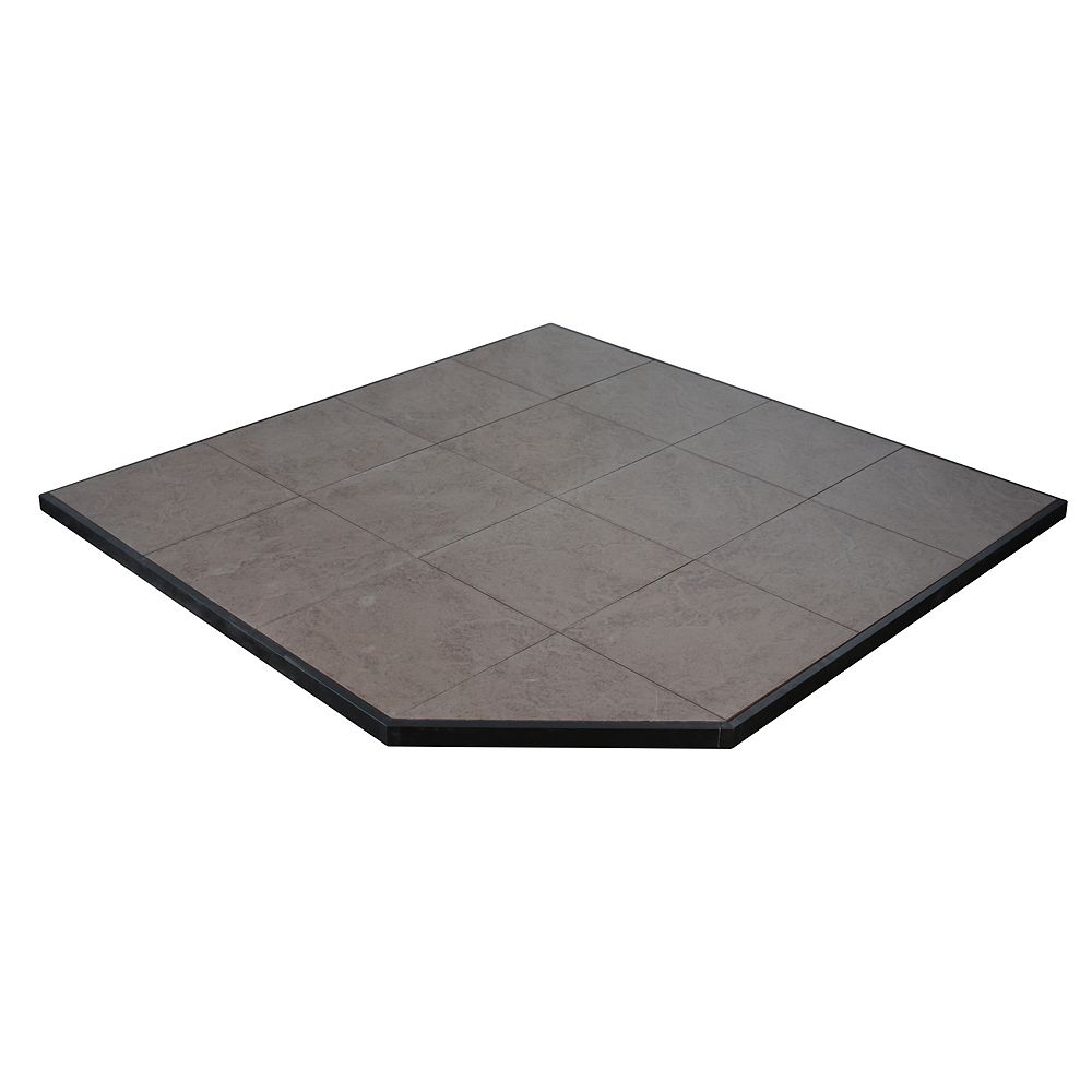 US Stove Boxed Hearth Pad Kit 48 inch Corner/Square Safari Sand