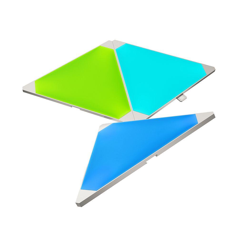 Nanoleaf Light Panel Expansion Multi-Colour Triangle LED Panels 3-Pack