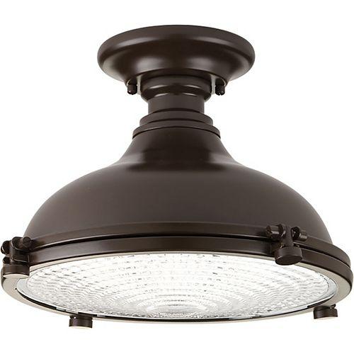 Fresnel Lens 1-light LED Semi-Flush Light Fixture