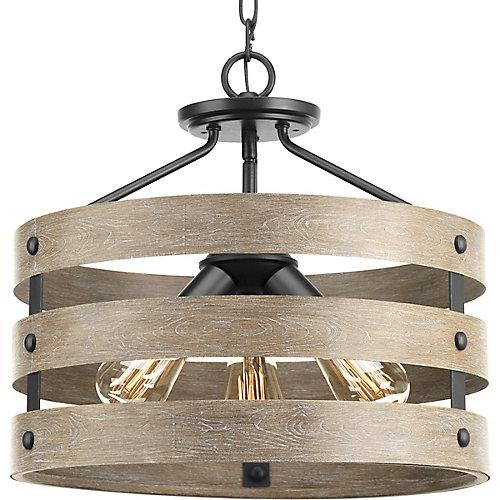 Gulliver 3-light Semi-Flush Convertible Light Fixture