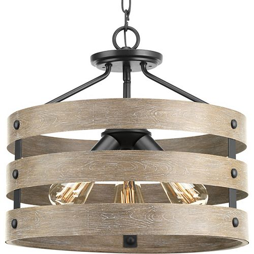 Gulliver 3-light Semi-Flush Convertible Light Fixture