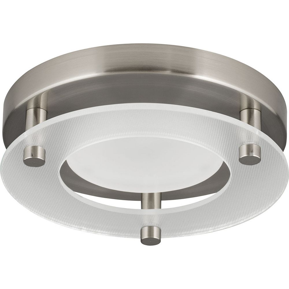 Progress Lighting Led Flush Mount One Light Led Flush Mount The Home Depot Canada