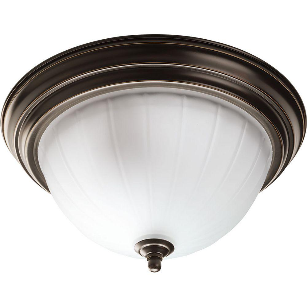 Progress Lighting Encastré Melon à deux lumières LFC Ampoules incluses