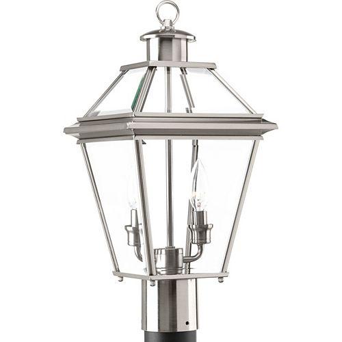 Lanterne sur poteau Burlington à deux lumières