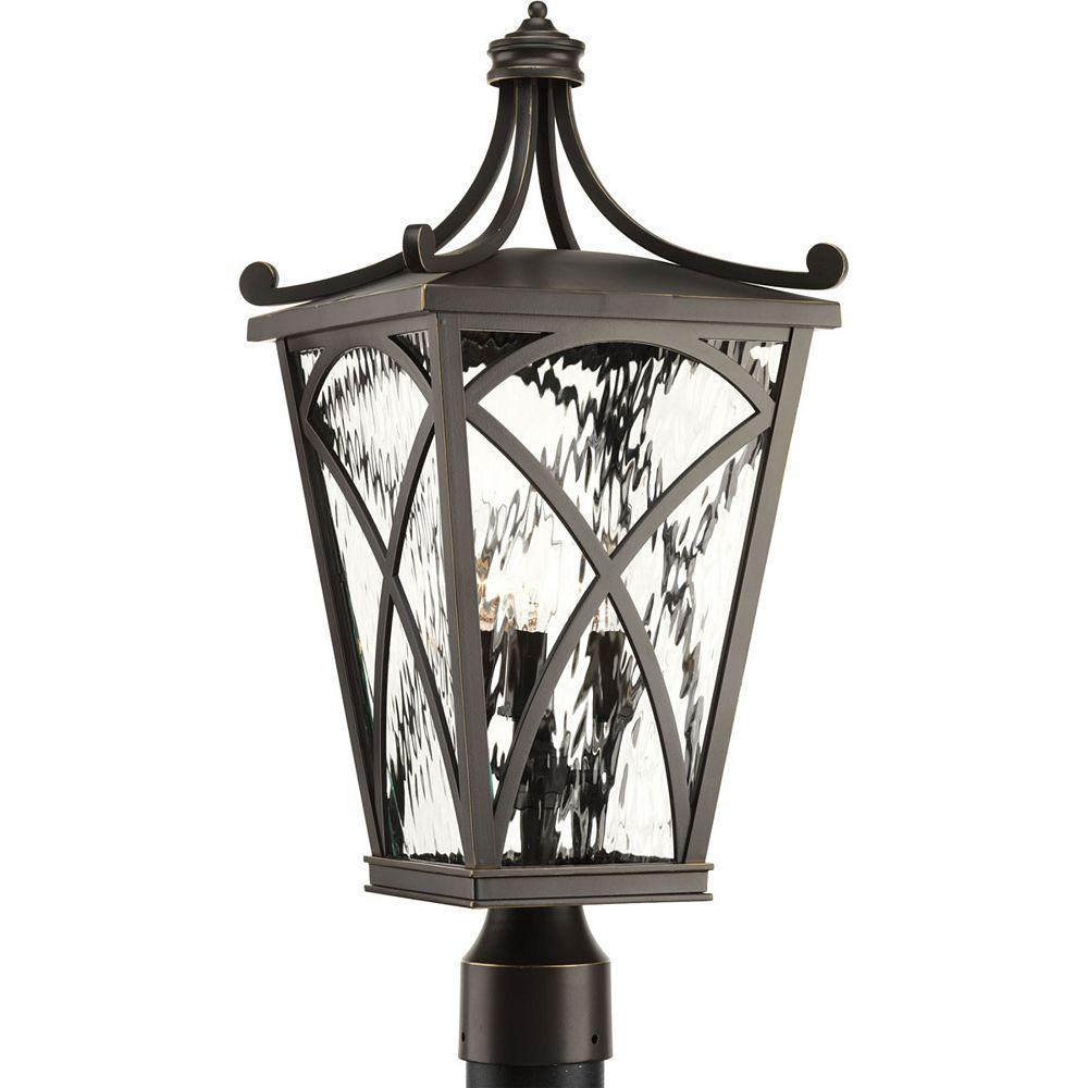 Progress Lighting Cadence Three-light Post Lantern 10 inch