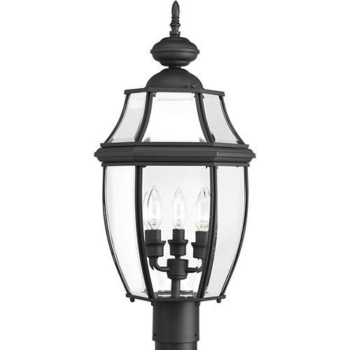Lanterne sur poteau New Haven à trois lumières