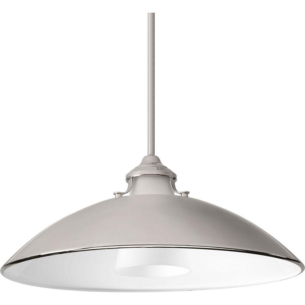 Progress Lighting Luminaire suspendu Carbon à une lumière avec abat-jour métallique 19,75po, 50,2cm