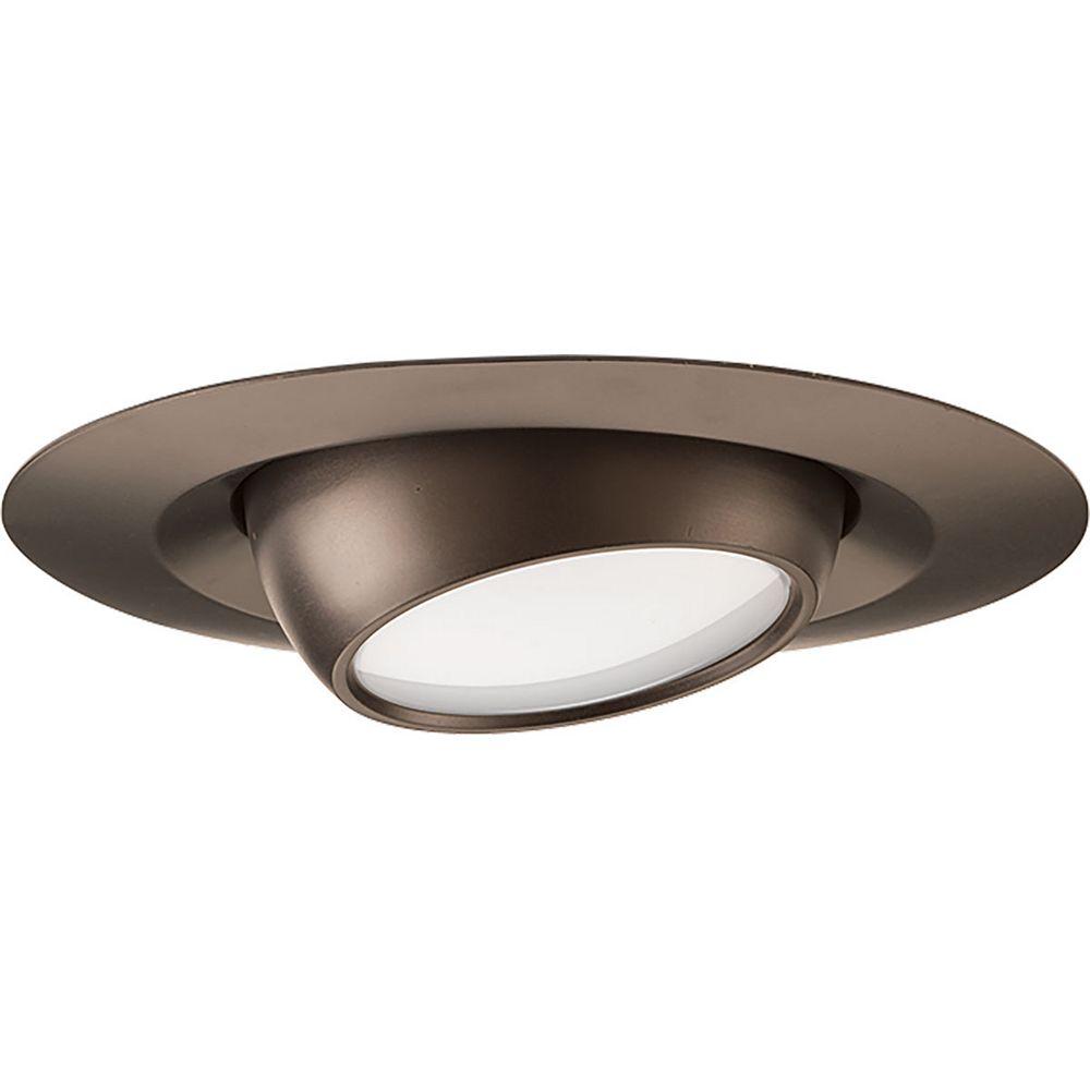 Progress Lighting LED Recessed 4 inch LED Eyeball Trim, 600 lumens