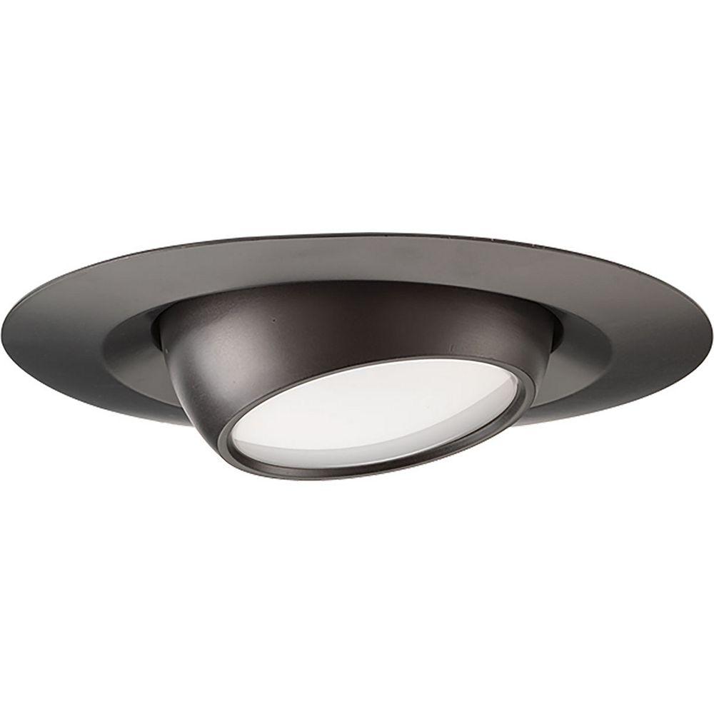 Progress Lighting Globe oculaire à DEL encastré de 4po 10,2cm, 600lumens