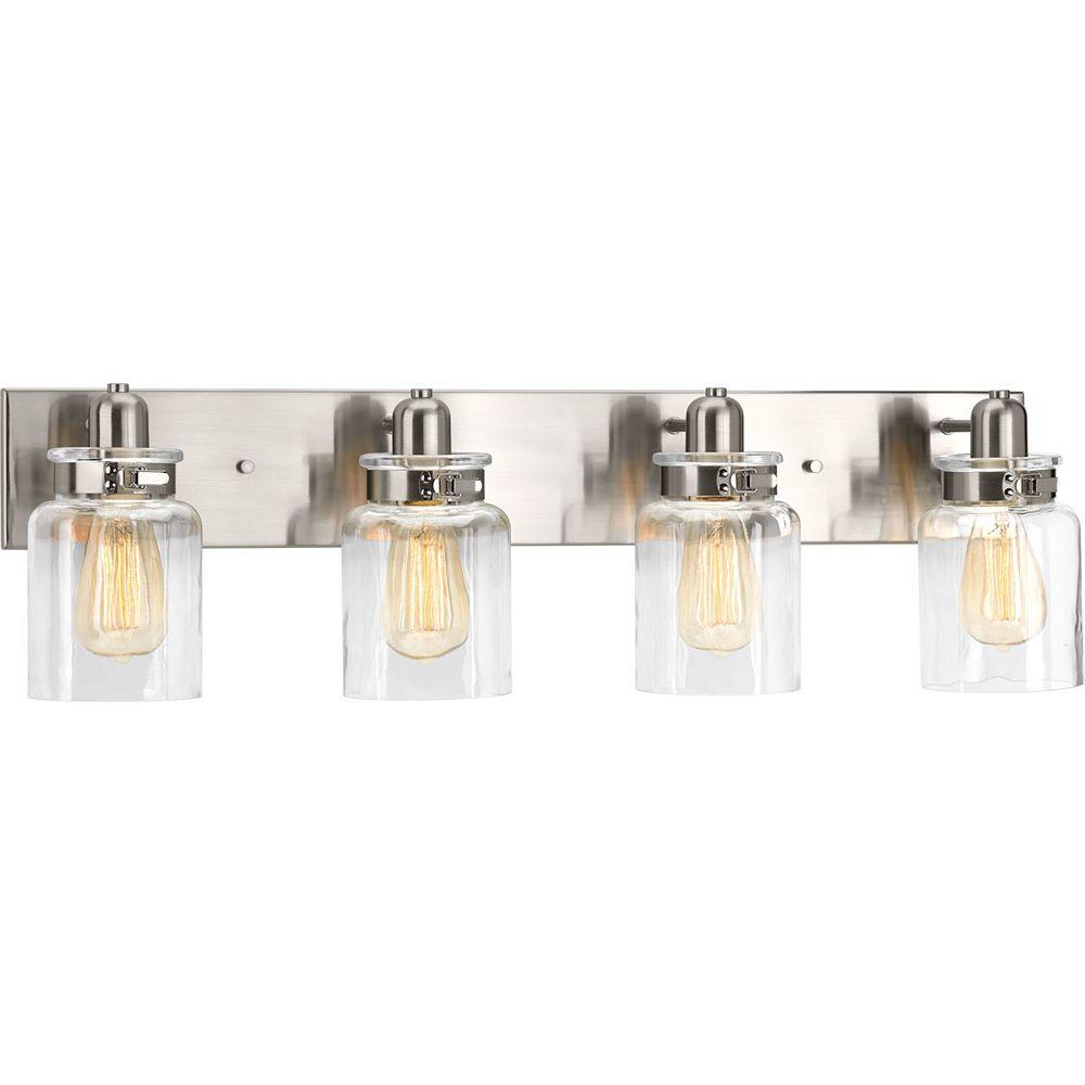 Progress Lighting Calhoun Collection 4-Light Brushed Nickel Bath Light