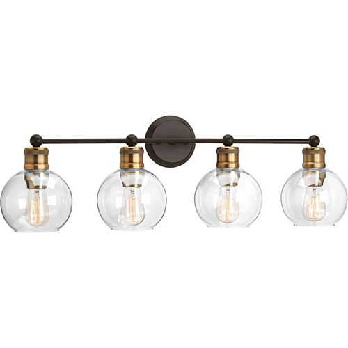 Hansford Collection 4-Light Antique Bronze Bath Light