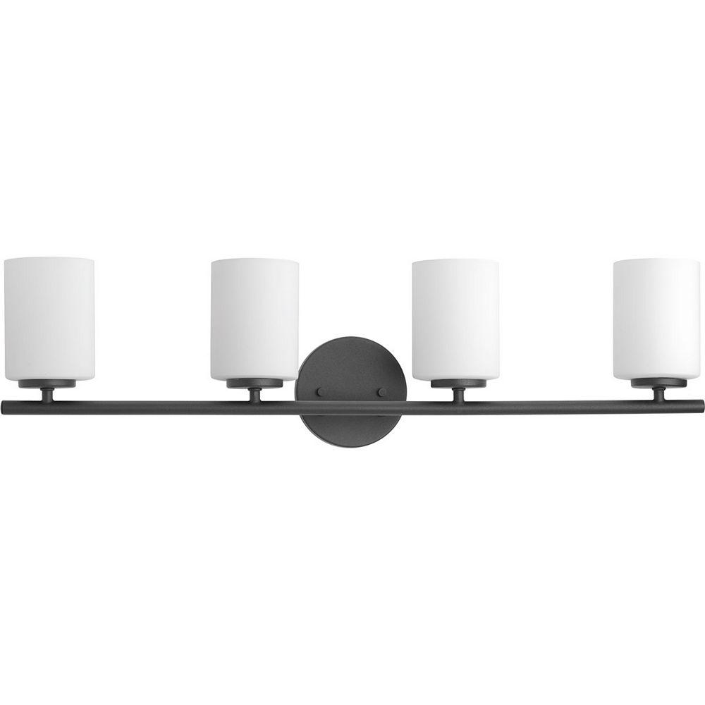 Progress Lighting Replay Collection 4-Light Black Bath Light