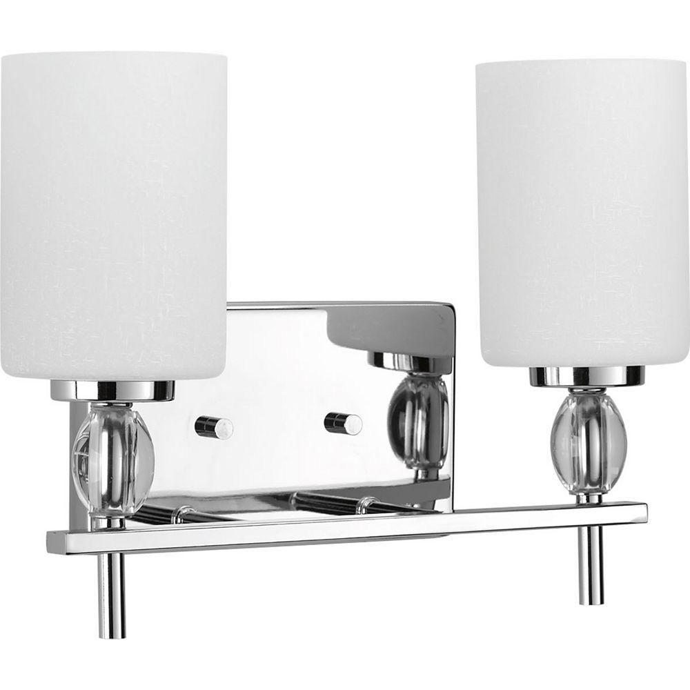 Progress Lighting Luminaire de salle de bain à 2 lumières, collection Status - fini chrome poli