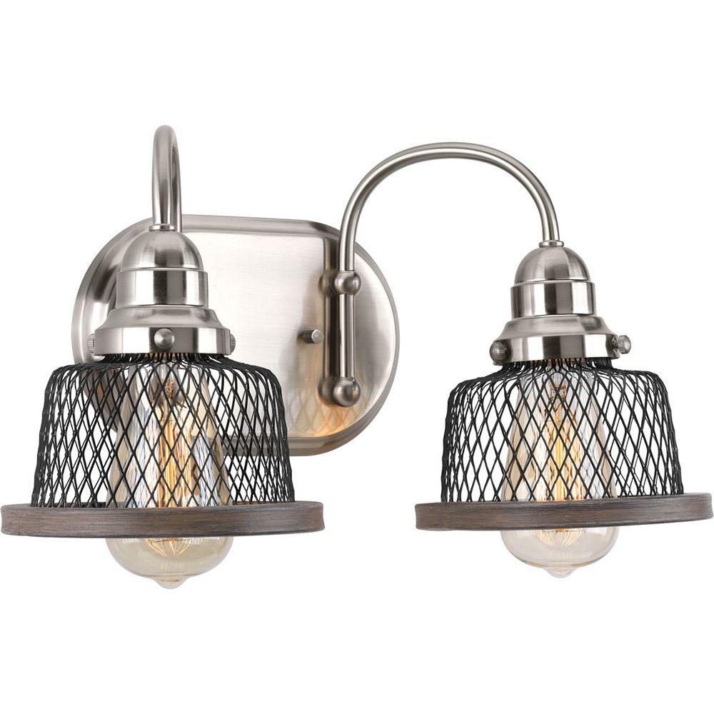 Progress Lighting Tilley Collection 2-Light Brushed Nickel Bath Light