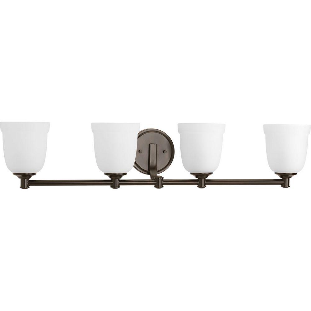 Progress Lighting Topsail Collection 4-Light Antique Bronze Bath Light