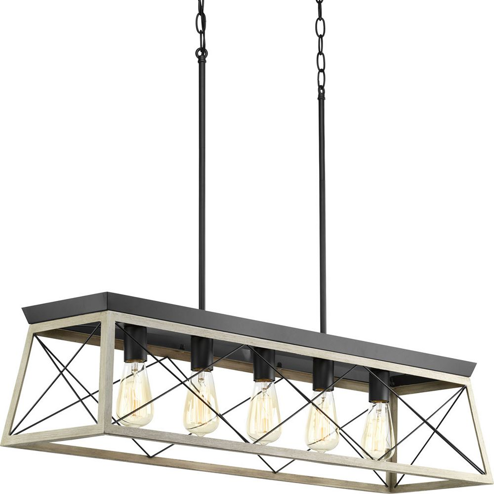 Progress Lighting Briarwood Collection 5 Light Graphite Chandelier
