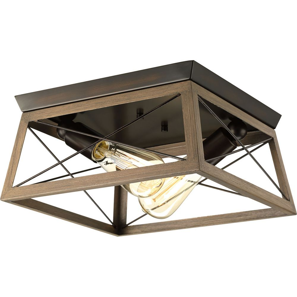 Progress Lighting Briarwood Collection 2 Light Antique Bronze