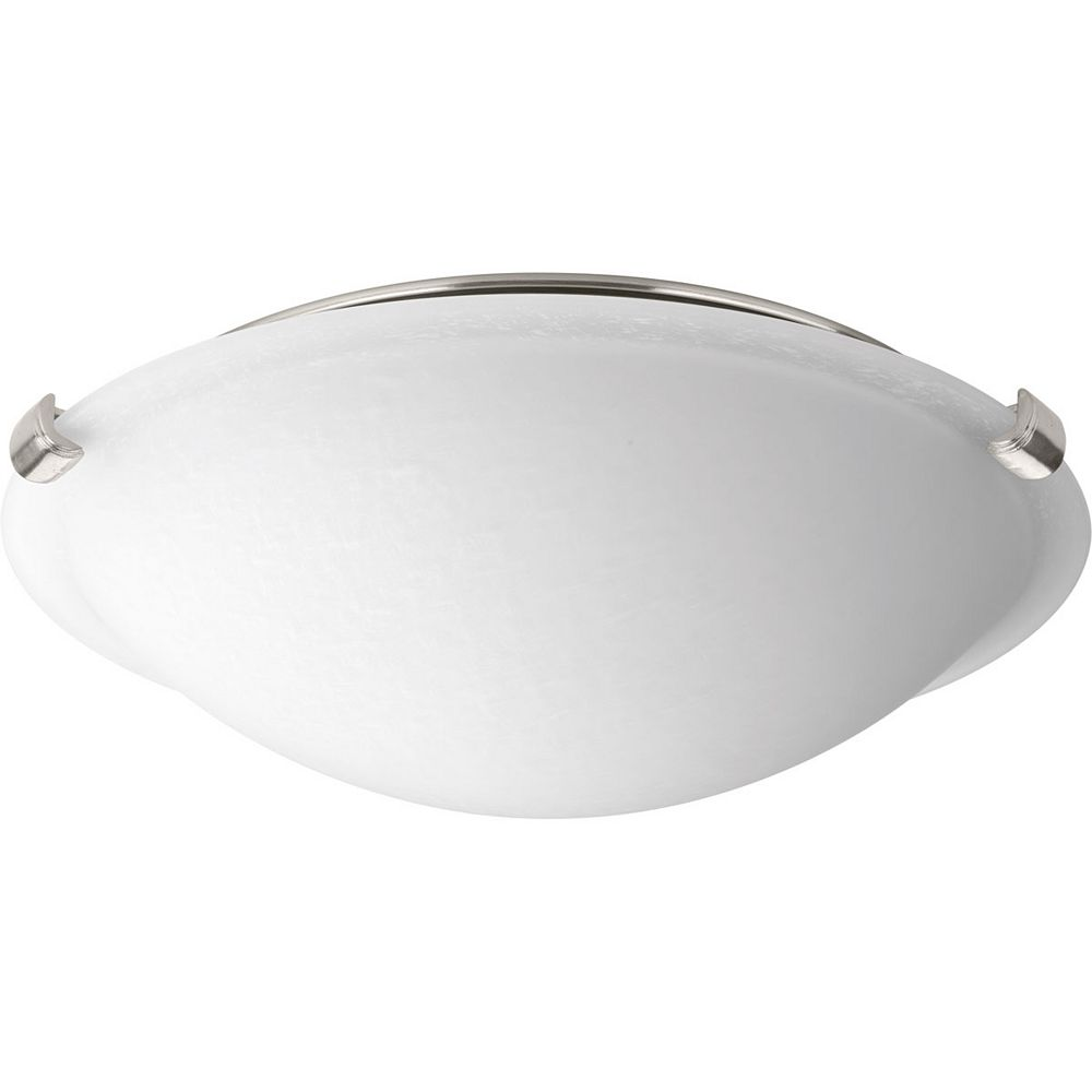 Progress Lighting LED Dome Collection 20-Watt Brushed Nickel LED Flushmount