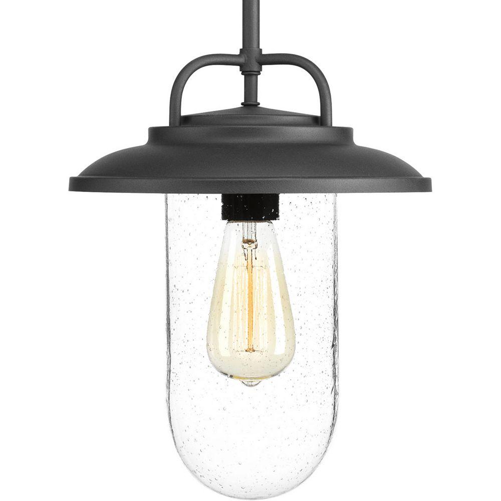 Progress Lighting Beaufort Collection 1-Light Black Pendant