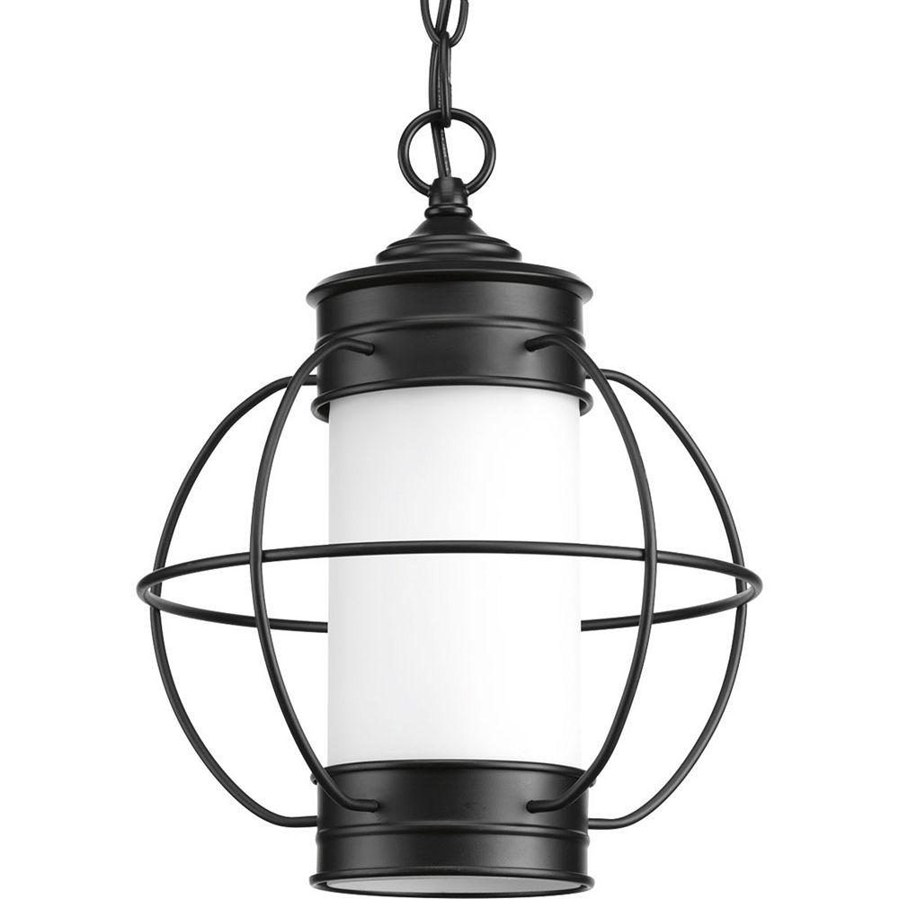 Progress Lighting Luminaire suspendu à 1 lumière, collection Haddon - noir