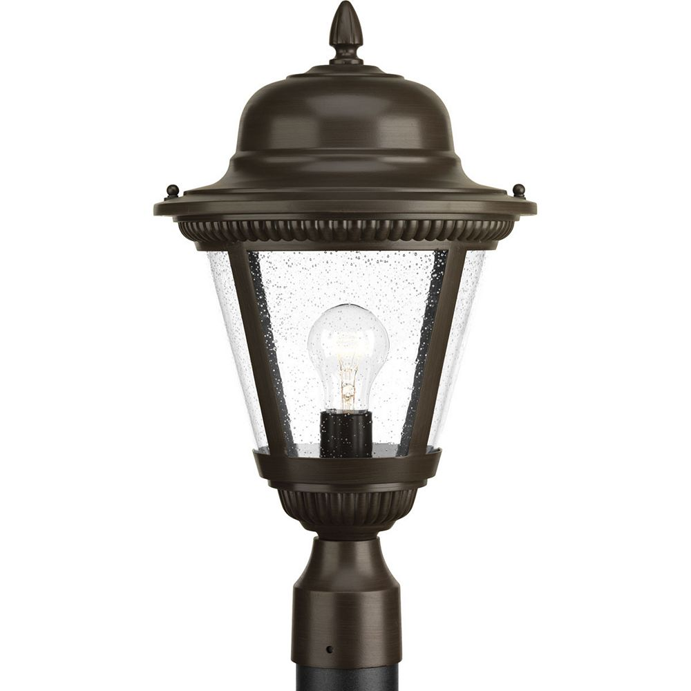 Progress Lighting Lampe sur poteau extérieure, collection Westport - bronze antique