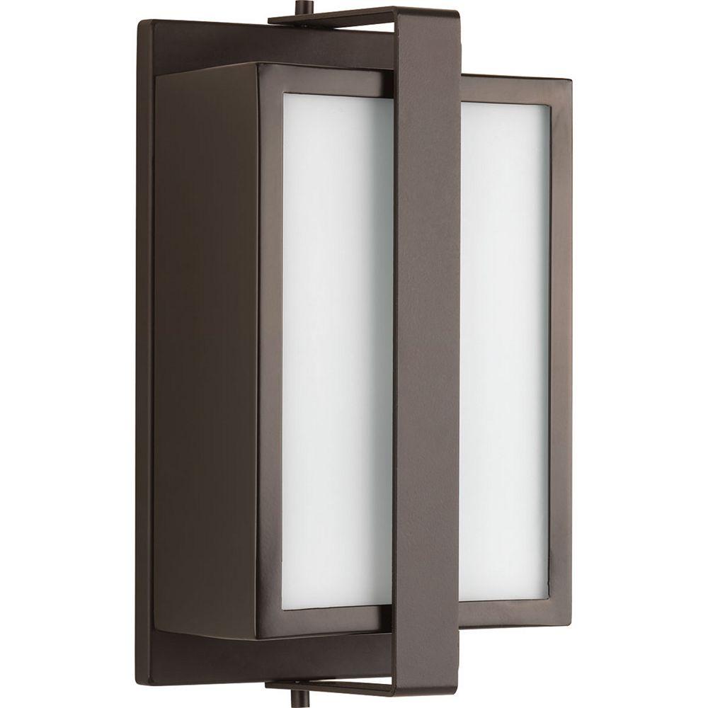 Progress Lighting Diverge Collection 1-Light Architectural Bronze Wall Lantern