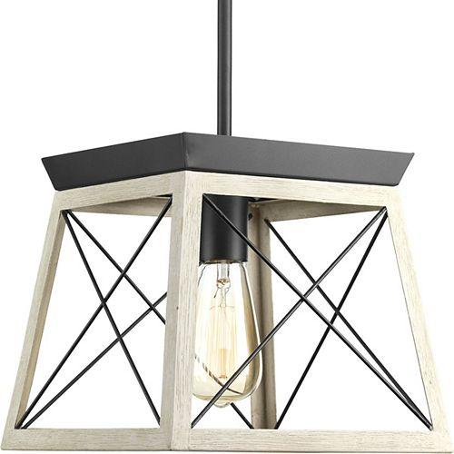 Luminaire suspendu à 1 lumière, collection Briarwood - fini graphite