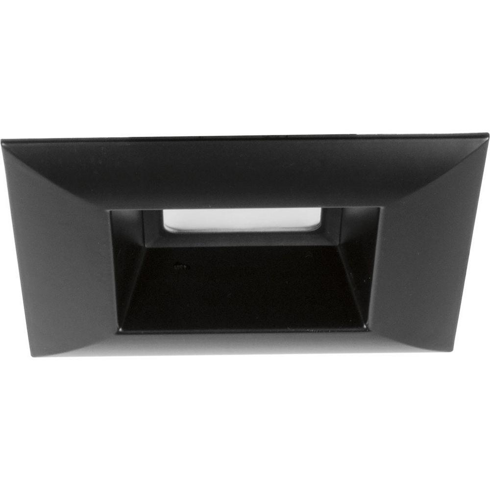 Progress Lighting LED Retrofit Square Collection 5 inch Black Integrated LED Recessed Trim