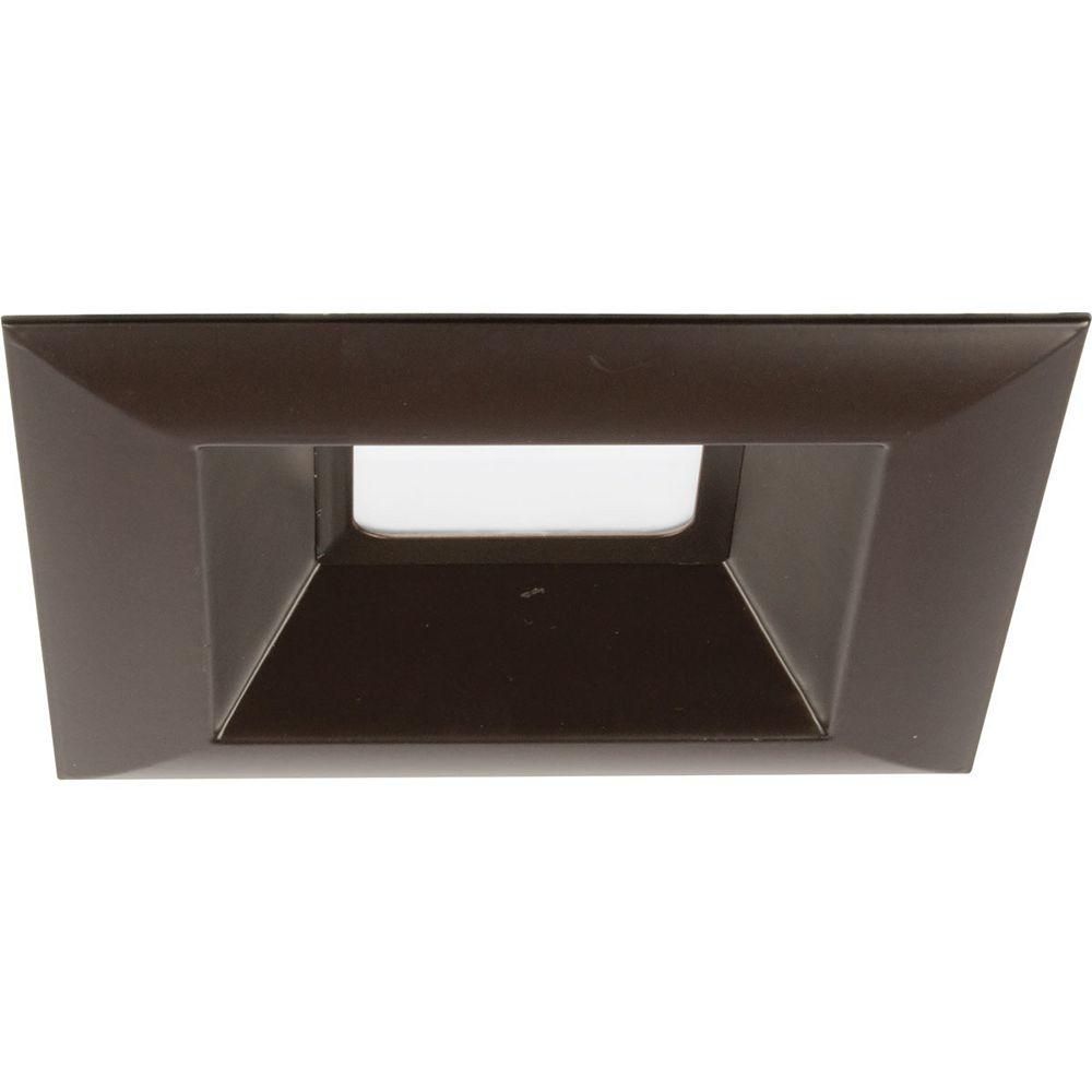 Progress Lighting Garniture encastrée à DEL intégrée, 6 po 15,2 cm, collection Square Retrofit DEL - bronze antique