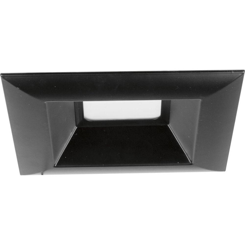 Progress Lighting Garniture encastrée à DEL intégrée, 6po 15,2cm, collection Square Retrofit DEL - noir